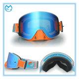 Máscara de esqui para oculos de corrida de moto quadrada com guarda de nariz