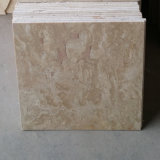 China Beige Color Limestone Type Travertine Floor Tile