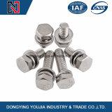 La Chine de la fabrication de boulons à tête hexagonale en acier inoxydable et la rondelle ressort assemblées GO9074