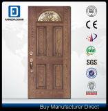 経済的な手のクラフトの耐久の絶縁されたガラス繊維のPrehungの外部ドア