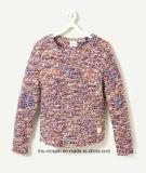 Kids Sweater Rainbow Yarn com Slub para meninas