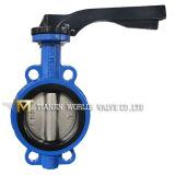 Клапан-бабочка Pn16 вафли отливки алюминиевой рукоятки Dn125 Op