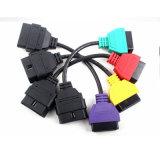 voor Kenmerkende Kabel Vier van de Adapter OBD van het Aftasten van ECU van FIAT Soorten Kleur