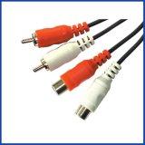 Câble audio, 2Fiche RCA jack à 2RCA (1.0105)