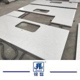 Großhandelsfeste künstliche weiße Quarzvorfabriziertcountertops für Hotels und Wohnungen, ausgeführte Steine