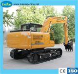 Máquina de Construção Venda quente 15 Ton Escavadeira Retroescavadeira hidráulica do trator de esteiras com 0,6m3 Balde