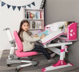 Mesa ergonômica ajustável em altura para crianças com suporte de livros