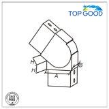 Conetor quadrado flexível da câmara de ar do entalhe do aço inoxidável para baixo com revestimento do cetim