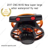 CNC Machine Cut Aluminum Super Large Arbor Waterproof Freshwater와 Saltwater Fly Fishing Reel