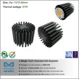 Résistance thermique inférieur du refroidisseur d'LED COB Extrusion (Dia: 110mm H : 80mm)