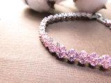 De nieuwe Armband van de Kleur van het Witgoud van het Kristal van de Diamant van de Aankomst Populaire Roze