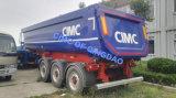 Cimc 반 60 톤 3 차축 후방 덤프 트레일러 트럭 포좌