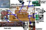 공장에서 500kw 석탄 가스 발전기 세트