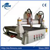 Ranurador principal doble del CNC de la carpintería del eje de rotación