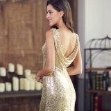 Goldkleid-Frauen-Abend-Kleid-langes Abend-Kleid