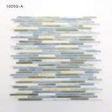 Hojas de cristal únicas en línea al por mayor del azulejo de Backsplash de la cocina del mosaico