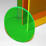 Folha plástica acrílica translúcida verde