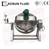 processo de manufatura industrial do vácuo da pressão 500L que cozinha preço Jacketed da chaleira