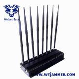 8 van banden Regelbare Krachtige 3G 4G UHFVHF GPS WiFi van Cellphone Stoorzender
