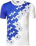 Gli uomini 100% della camicia di sport del poliestere asciugano la camicia di T atletica adatta
