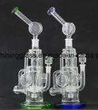 Heiß! ! ! Glaswasser-Rohr mit Rocket-Diffuser- (Zerstäuber)schwerer Unterseite für das Rauchen