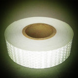 Dispositif avertisseur r3fléchissant de PVC d'adhésif blanc de couleur pour la sûreté