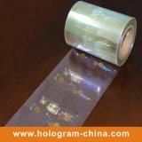 Autoadesivo trasparente dell'ologramma del laser di obbligazione 3D