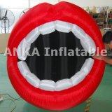 Aufblasbares ehrfürchtiges Mund-Zeichen kundenspezifische Form für Verkauf
