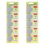 Fortuna Cr2450 batteria della moneta del litio da 3 volt - confezione per la vendita al dettaglio (un pacchetto di 10)
