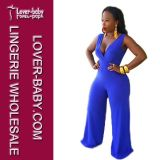 Ladies Blue Jumpsuit Party Clothes (L55212)