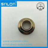 DIN6923 a porca de flange sextavado em aço carbono revestido de zinco