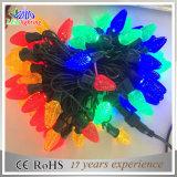 Luz colorida do diodo emissor de luz C7 da decoração do feriado ao ar livre do Natal