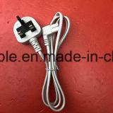 1.2m черный BS одобрило силовой кабель Великобританию 2 Pin с IEC 320 C7