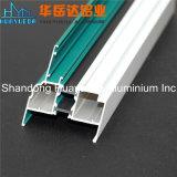 Profil en aluminium de fournisseur de la Chine pour le guichet en aluminium arrêté extérieur de tissu pour rideaux