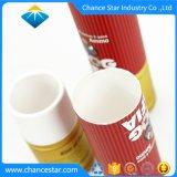 La impresión personalizada de la tarjeta blanca de embalaje del vaso de tubo de papel