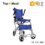 Topmedi Ultra Light Airplane Aluminium Portable Travel Transport Wheelchair