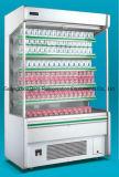 Refrigeratore di vetro dritto della visualizzazione della bevanda con la cortina d'aria all'interno