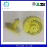 Ohr-Marke des Viehbestand-RFID mit Laser gravierter Barcode-Seriennummer