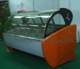Congélateur en verre incurvé d'étalage pour la crême glacée italienne B8 utilisé (CE) de Gelato d'étalage