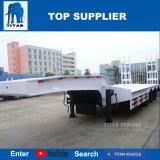 タイタンの三車軸低いベッドのトレーラーの低いベッドのトレーラーのLowloaderのトラックのLowboyのトレーラー