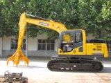 excavadores de la correa eslabonada de 15ton Hydualic que cogen la máquina de la chatarra
