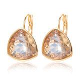 Bisutería Diamante CZ Triángulo Stud Earrings hechas con cristal de Austria