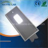 12W imperméabilisent le réverbère solaire intelligent de DEL de 3 ans de garantie