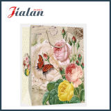 Retro 꽃 디자인 4c에 의하여 인쇄되는 물색 운반대 선물 종이 봉지