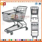 Supermarkt-Australien-Art-Zink-Einkaufswagen-Laufkatze (Zht46)