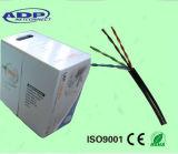 Câble Cat5e SFTP de réseau d'Al protégé par double et de tressage