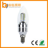 3W LED bulbo de la vela de iluminación cubierta de cristal de la lámpara E14 E27 Base