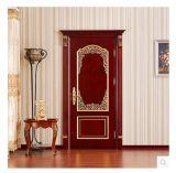 Дверь высокого качества стальная с деревянным переходом