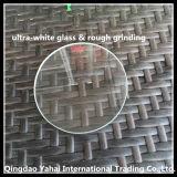 verre de flotteur Ultra-Blanc rond de 4mm avec le meulage approximatif