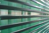 el vidrio Tempered teñido claro de 12m m con los orificios/pulió la pantalla del borde/de seda/la insignia